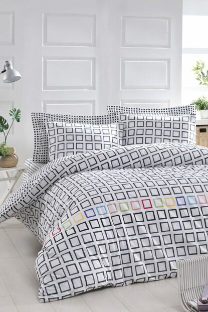 100% Natural Cotton Double Duvet Cover Set Sonic White Ep-019626