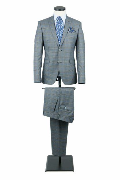 Men's Blue Fitted Suit Comfort Fitting 6 Drop 19-0063 2301C6910063