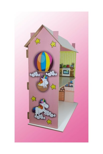 Wooden Toy House (Furniture For Baby And 4 Little Dolls) New? Model Halcantdy002