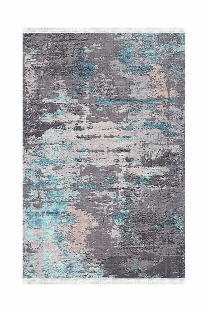 K252 Cinnamon Blue Decorative Washable Carpet