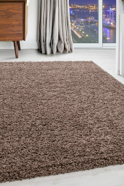 Shaggy Carpet 50 mm Pile height flat Light Brown DREAM4000MOCCA
