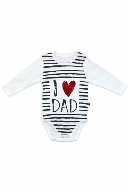 I Love Dad Long Sleeve Baby Badge K2471