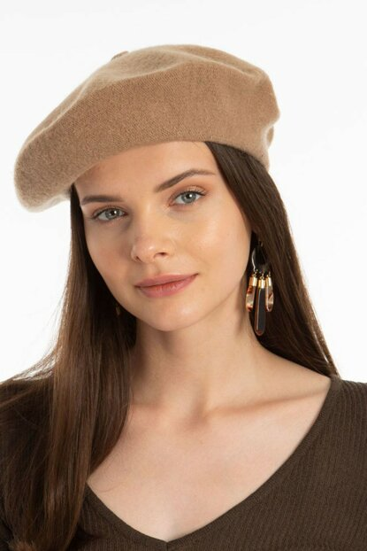 French Model Painter Beret Camel Feather VG-1010