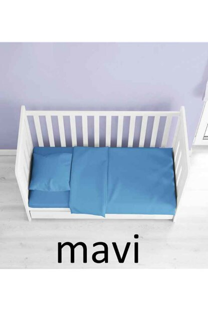100% Cotton Blue Baby Bedding Sets BEBEKMAVI