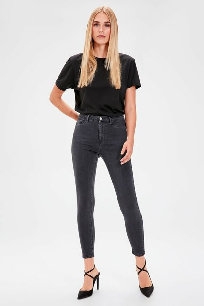 Anthracite Normal Waist Jegging Jeans TWOAW20JE0011