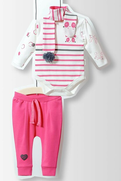 Wogi Baby Badi Trousers Scarf Set 3 Pieces 5183 WG5183