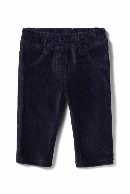 Navy Blue Unisex Baby Trousers 321734DZB571PE