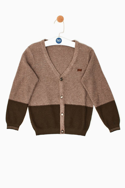 Boys Kids Coffee Cardigan 18FW0RF3705 18FW0RF3705