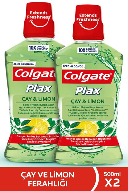 Plax Tea & Lemon Non-Alcoholic Mouthwash 500 ml x 2 Pieces 87189510061882
