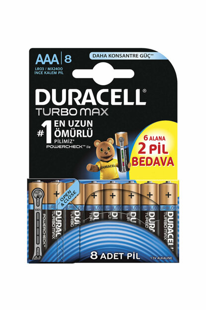 Turbo Max AAA Battery Pack of 8, 5000394117617
