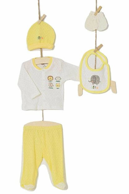 Aziz Bebe Baby Hospital Outfit Set of 5 Layer Baby 5216 AZZ005216