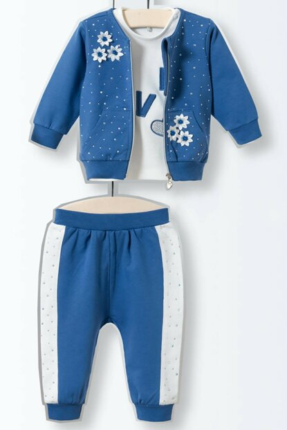 Wogi Baby Girl Bottom Top Vest Tracksuit Set 5177 WG5177