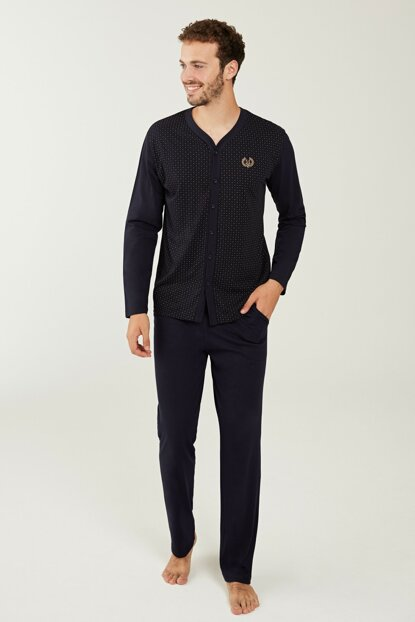 Men's Navy Blue Pajama Set 3192