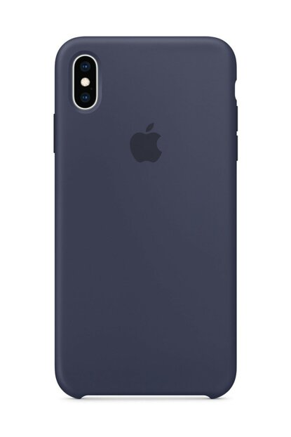 iPhone XS MAX Original Slim Silicone Rubber Case Back Cover - Navy Blue MMWF2ZM / A-7