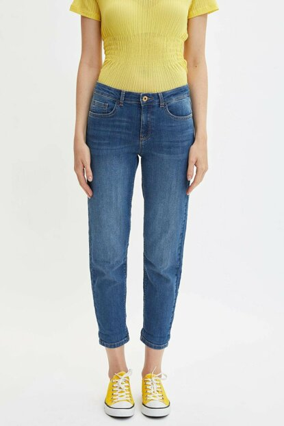 Women's Blue Susana Slim Fit Jean Pants J0835AZ.19AU.NM28
