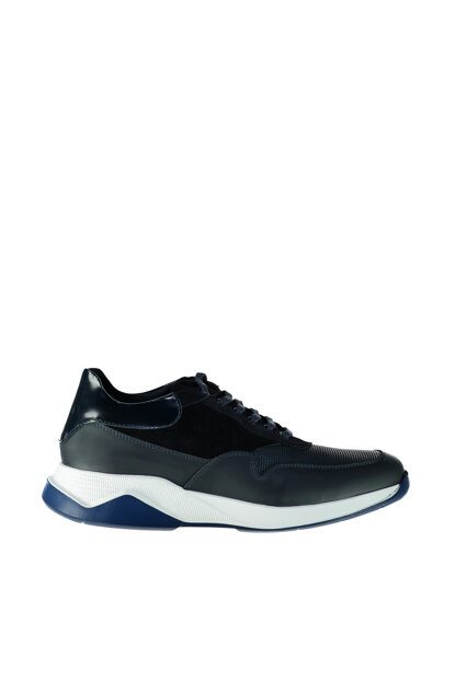 Genuine Leather Navy Blue Men Shoes 02AYH128990A680