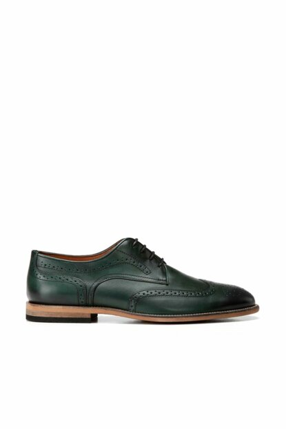 Genuine Leather Green Men Shoes 02AYH139530A840