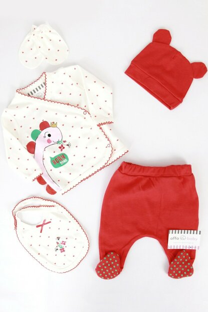Red Dinosaur Baby Girl 5Li Hospital Outlet AF5064