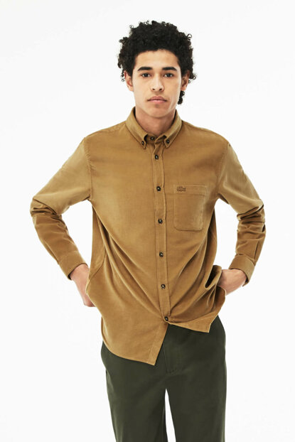 Men Regular Fit Brown Shirt CH0933 CH0933