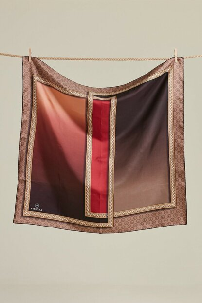 Women's Salmon Viscona Twill Silk Scarf 17186