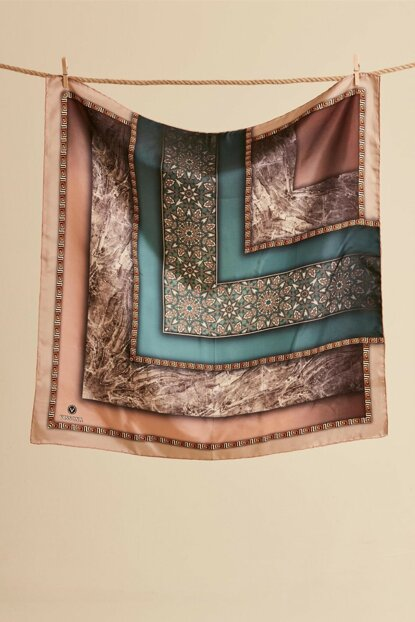 Women's Copper Silk Scarf XV7137