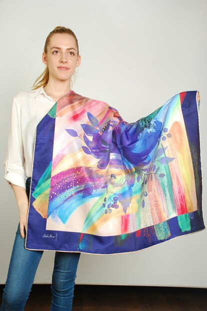 Women Multi Color Sport Polyester Scarf 9351193