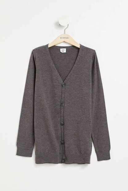 Anthracite Boy V Neck Sweater Cardigan K8836A6.19AU.AR102