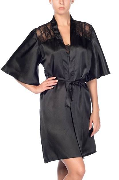 Miorre Satin Lace Dressing Gown 001 018303 15250 Id