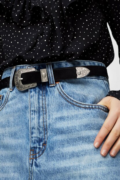 Women's Black Western Basic Belt 05872314