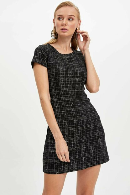 Women's Black Knitted Dress