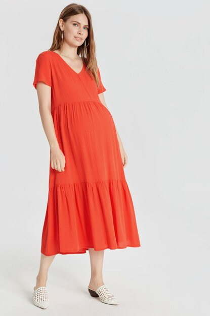 Women's Matte Coral Acm Dress 9SS026Z8