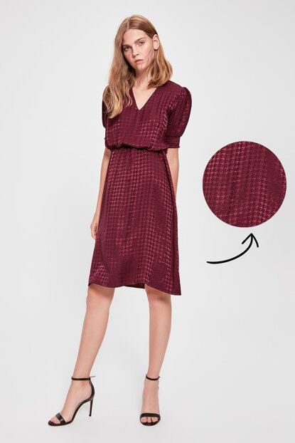 Plum Jacquard Dress TWOAW20EL0782