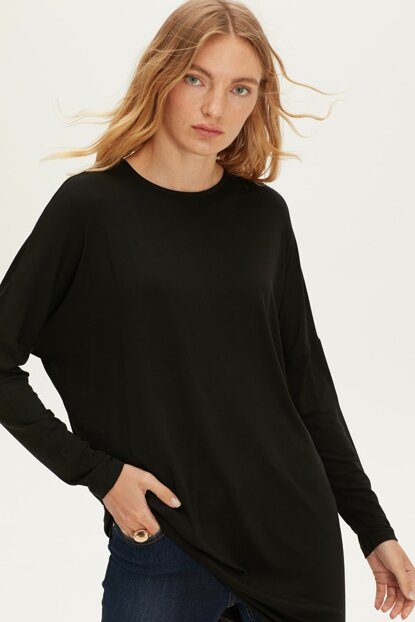 Women's New Black Cvl Tunic 9W2581Z8