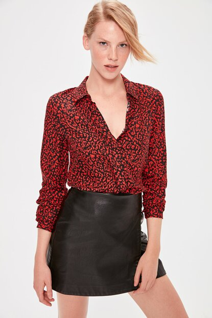 Red Patterned Shirt TWOAW20GO0395