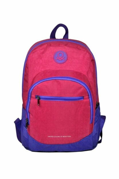 Benetton Three Compartment Lilac / Pink Backpack - Hakan 96001 HKN96001