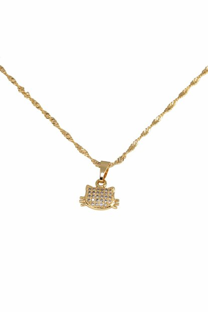 Women's 18K Gold Plated Cat Necklace 08656-KO13