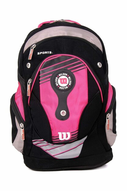 Pink Unisex School Bag wilson Backpack 50925pink
