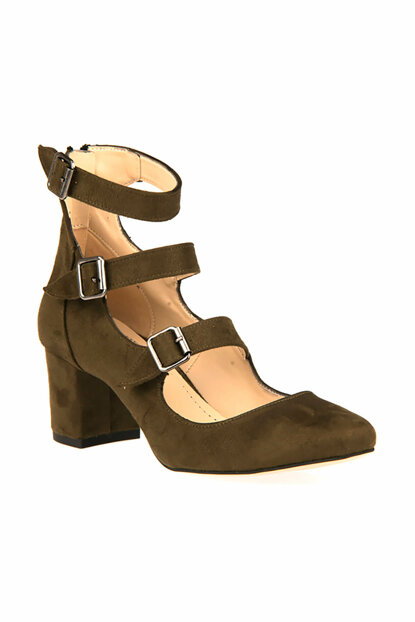 Khaki Women's High Heels Shoes 8339 7382