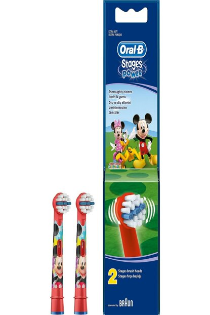 Toothbrush Replacement Head Stages Mickey Child 2pcs 4210201746263-1