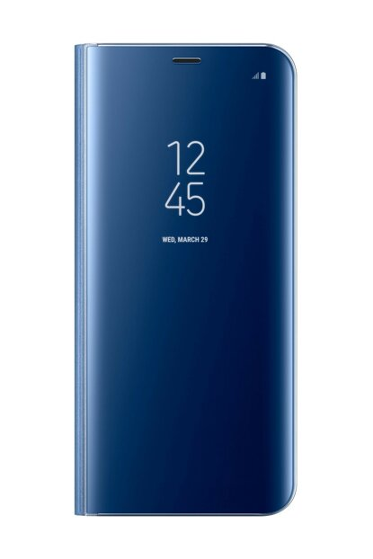 Galaxy S8 Plus Clear Wiew Standing Cover Blue Case KILIF11