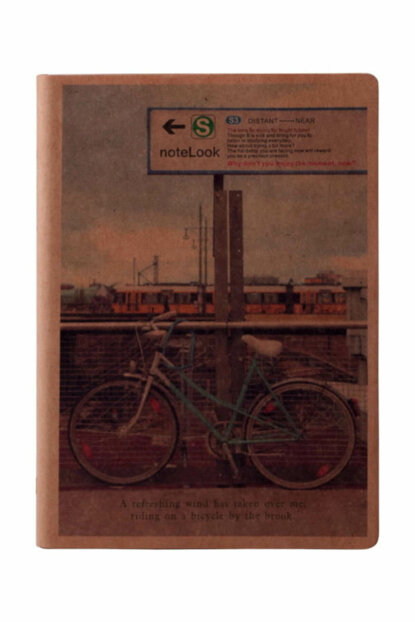 Scrikss Notelook Kraft Notebook BICYCLE 13x18.5cm Unlined T001ADL321284A