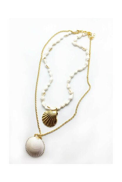 Shell Oyster And Gold Oyster Multiple Necklace 6006109026199