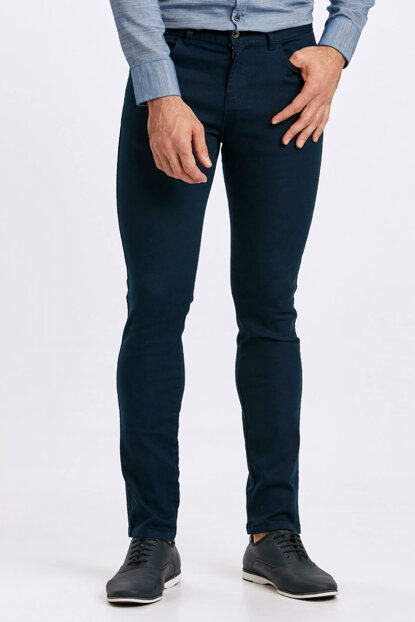 Men's Navy Blue Trousers 8W4582Z8