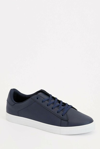 Men's Navy Blue Lace-Up Sports Shoes M1101AZ.19AU.NV35