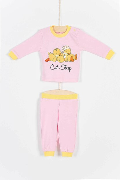 Buude Baby Bottom Top Pajama Suit With Chick 6-18 Months 6795 B6795