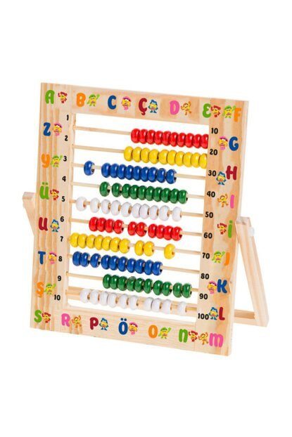 Play-Doh Wooden Abacus Patterned 24.2X21.5 Cm PD.AA001