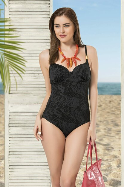 Women Black Printed Print Swimwear NB19YMB00003