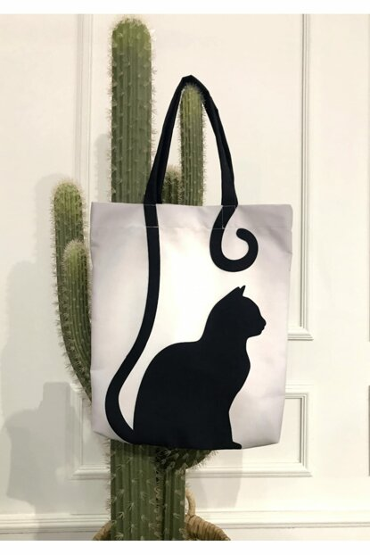 Cat Patterned Beach Bag 8681846020012