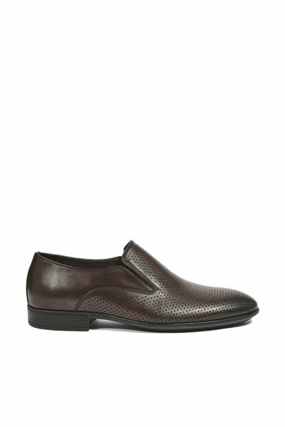 Genuine Leather Coffee Men Classic Shoes 2010044379