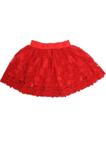 Red Child Ruched Skirt 9292-22